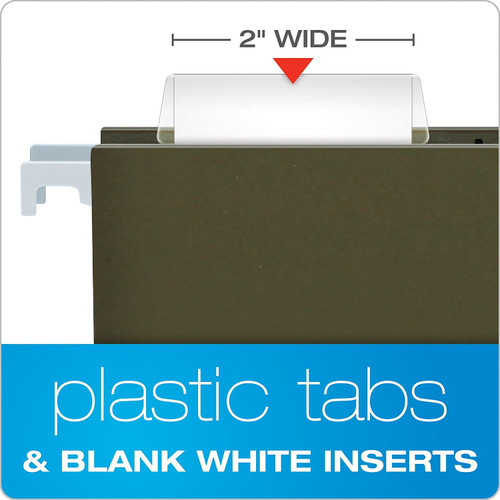 2 Clear Hanging File Folder Tabs 25 Tabs and Inserts Per Pack Pack of 2