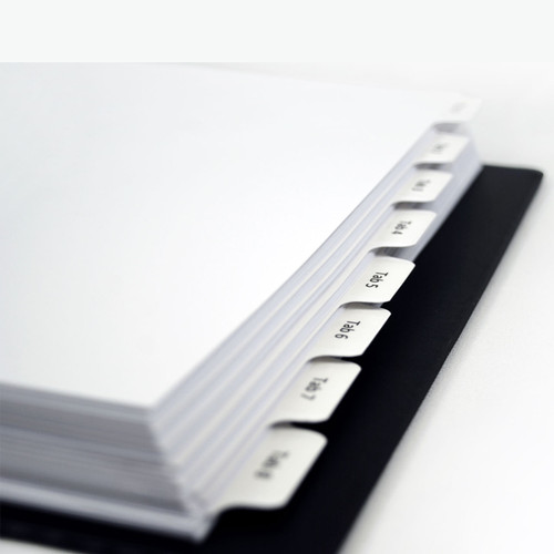 Labels for 1/8 Cut Index Tab Dividers (Clear) (152100)