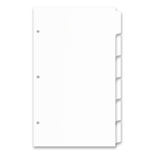 Ruby Paulina Legal (14x8.5) Index Tabbed Dividers 4 Sets (White) (490804)