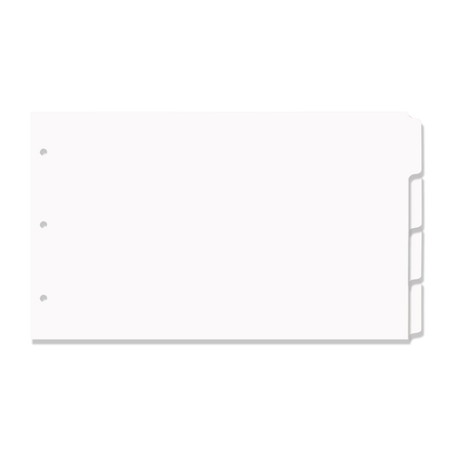 8.5x14 4 Tabbed White Dividers (20 per Package)