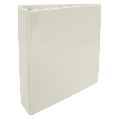 """11x8.5 Binder Vinyl Panel with pockets Featuring a 1.5"""" Round Ring White"""