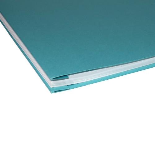 11x17 Report Cover Pressboard Binder PaperBoard Panels includes Fold-over Metal Fastener Bruin Blue Single unit