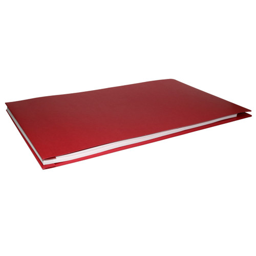 11x17 Report Cover Pressboard Binder PaperBoard Panels includes Fold-over Metal Fastener Tech Red Single unit