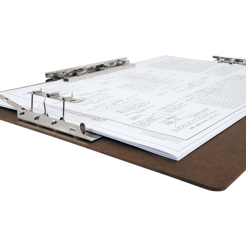 """17x11 Clipboard Acrylic Panel Featuring an 8"""" Hinge Clip Black"""
