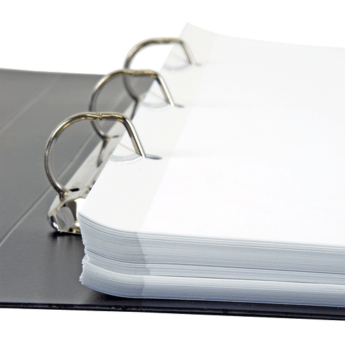 17x11 Reinforced 3 Hole Paper - Holes on 17'' Side (500 Sheets per Ream)