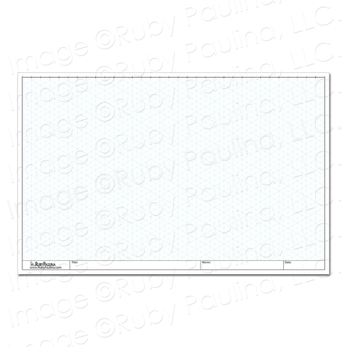 11x17 Loose Leaf Isometric Paper (100 Pages)