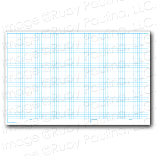 11x17 Loose Leaf 1/4 Grid Paper (100 pages per package- 4 squares per inch)