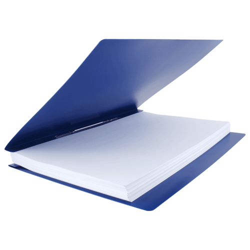 17x11 Report Cover Binder Poly Panels Includes Fold-over Metal Fasteners Blue (626620)