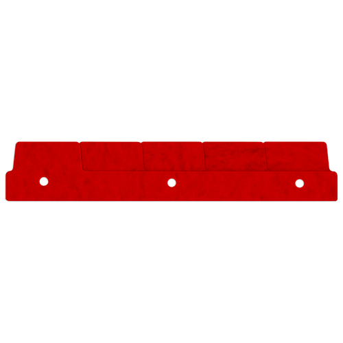 """11"""" End Spine Tabs (595602) Red"""