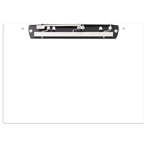 """19x13 Clipboard Acrylic Panel Featuring an 11"""" Hinge Clip White"""