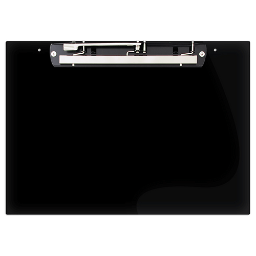 """19x13 Clipboard Acrylic Panel Featuring an 11"""" Hinge Clip Black"""
