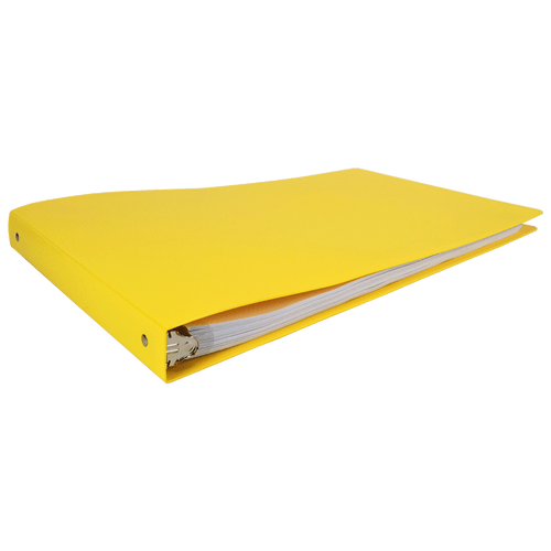 """11x17 Binder Poly Panel Featuring a 1"""" Round Ring Yellow"""