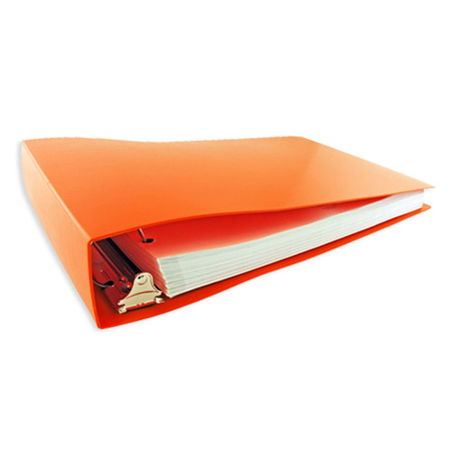 """11x17 Binder Poly Panel Featuring a 2"""" Angle-D Ring Orange"""