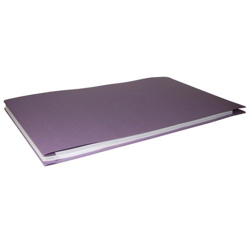 11x17 Report Cover Pressboard Binder PaperBoard Panels includes Fold-over Metal Fastener Prairie View Purple Single unit