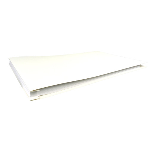 11x17 Report Cover Pressboard Binder Linen PaperBoard Panels includes Fold-over Metal Fastener Shasta White Single unit