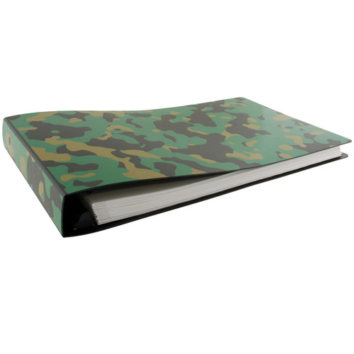 """11x17 Binder Poly Panel Featuring a 1.5"""" Angle-D Ring CAMOUFLAGE"""