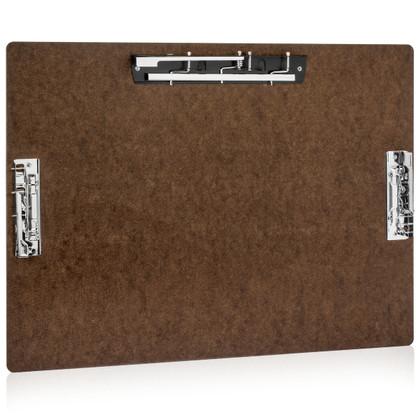 17x11 Hardboard Clipboard with 3 Hinge Clips - 11x17.com