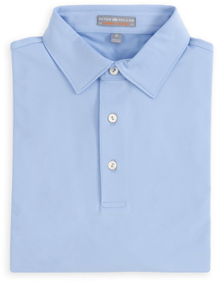366ce1fb Peter Millar Solid Stretch Jersey Polo with Sean Collar in Cottage Blue