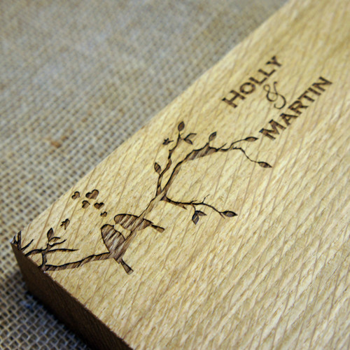 Solid Oak Personalised Engraved Chopping Board - an ideal wedding gift