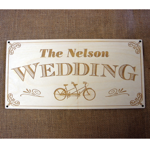 Wooden laser engraved Wedding sign