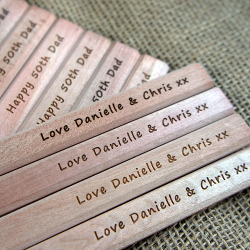 Wooden personalised engraved Carpenters Pencils