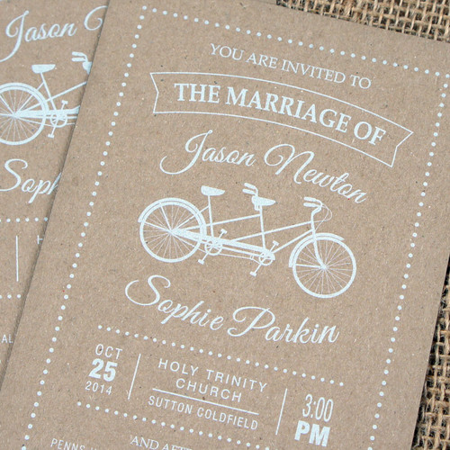 Kraft Wedding Invitations - Tandem