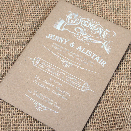 Kraft Wedding Invitations - Ceremony