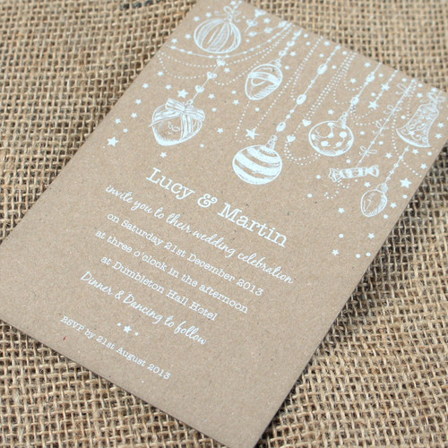Kraft Wedding Invitations - Christmas