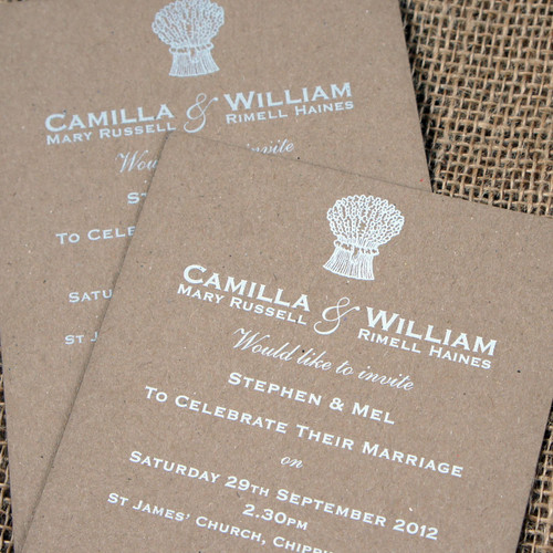 Kraft Wedding Invitations - Harvest