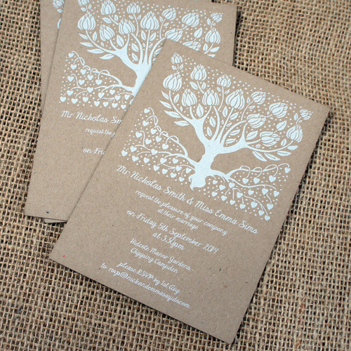 Kraft Wedding Invitations - Wedding Tree