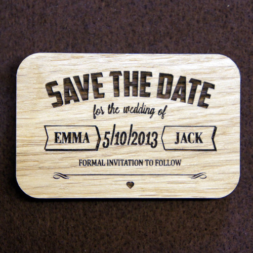 Save the Date Typographic Magnet