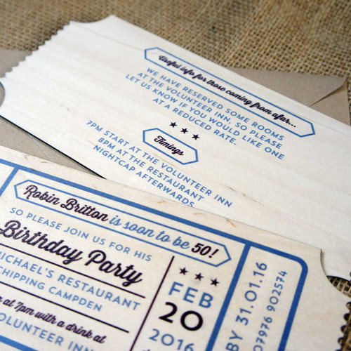 Printed Wooden Birthday Invitation