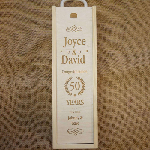Personalised Wooden Anniversary Winebox