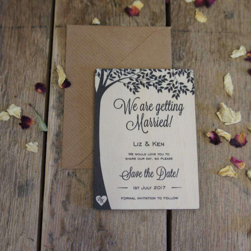 Printed Wooden Save the Date Magnets
