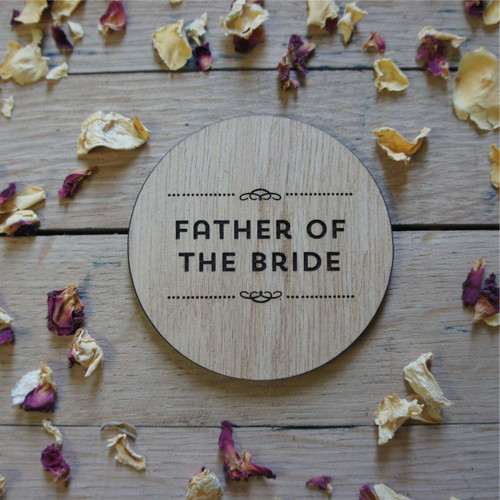 Personalised oak wooden coaster - Wedding or Event Place Setting
