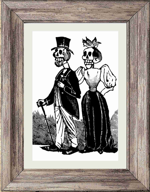 Day of the Dead Poster / Print - Wedding Couple