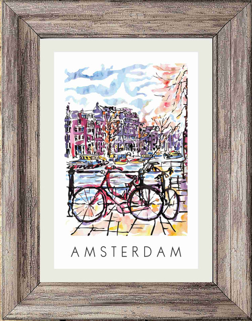 Amsterdam (Bicycles) Poster Print