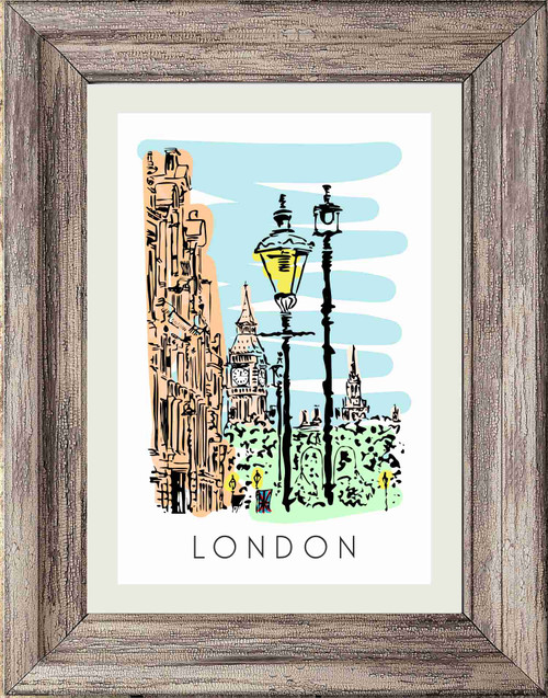 London City poster print featuring Big Ben
