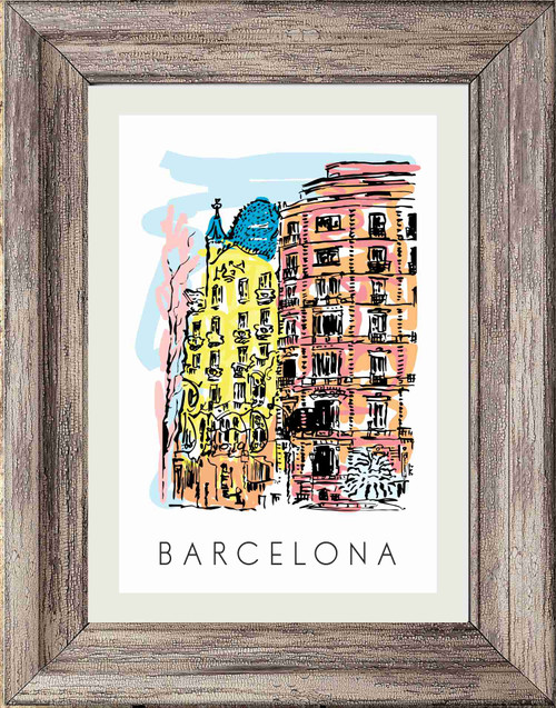 Travel Print/ Poster Print - City of Barcelona