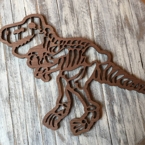 Wooden T Rex wall art/ wooden Tyrannosaurus bedroom art, child's wall art