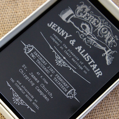 Acrylic Wedding Invitations - Ceremony