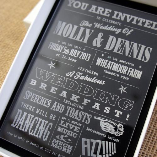 Acrylic Wedding Invitations - Funfare