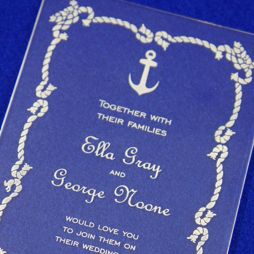 Clear Acrylic Wedding Invitation - Nautical
