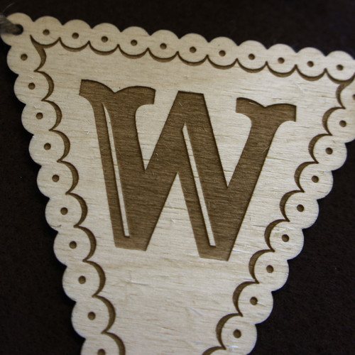 Wooden Wedding Bunting - Triangles
