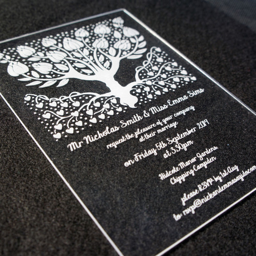 Acrylic Wedding Invitations - Wedding Tree