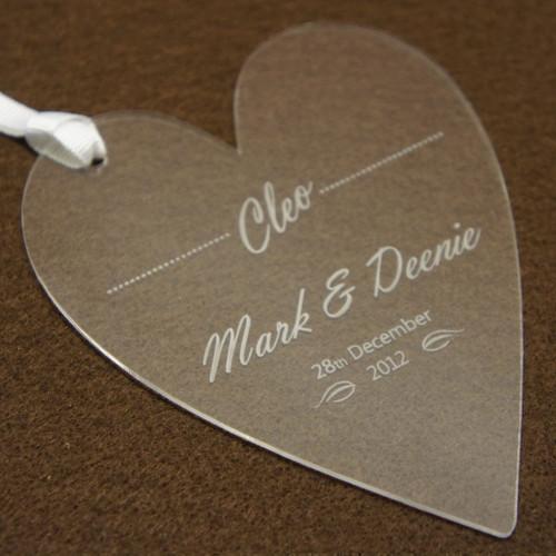 Personalised acrylic wedding place name