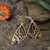 Wooden earrings with silver hook - Butterfly Wings