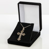 Marcasite Stone Cross Necklace