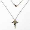 Crystal Heart Cross Nano Bible Necklace