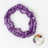 Amethyst Stone Tree of Life Necklace